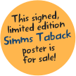 This signed, limited edition Simms Taback poster is